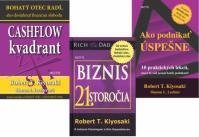 3 knihy Roberta T. Kiyosakiho KOMPLET