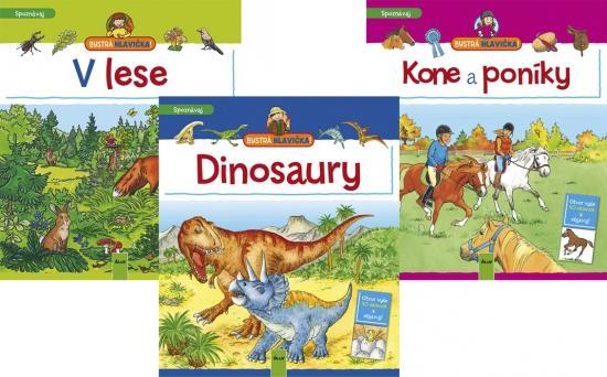 Kniha: V lese+Dinosaury+Kone a poníky KOMPLETautor neuvedený