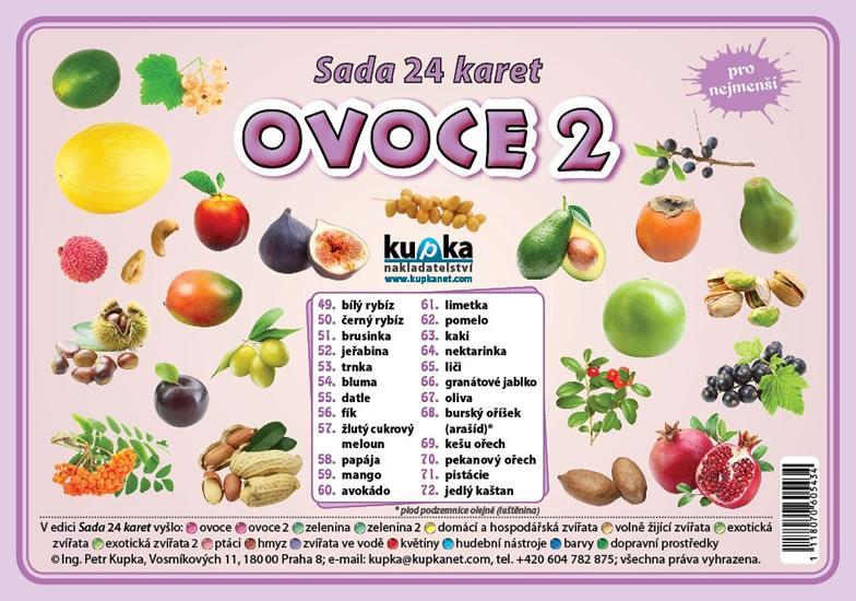 Kniha: Sada 24 karet - ovoce 2 - Kupka Petr
