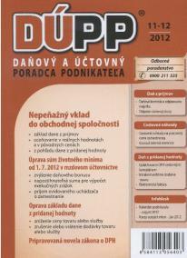 DUPP 11-12/2012 Nepeňažný vklad do obchodnej spoločnosti