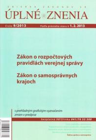 UZZ 9/2013 Zákon o rozpočtových pravidlách verejnej správy