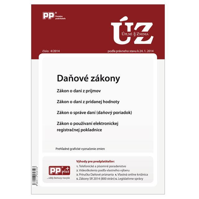 Kniha: UZZ 4/2014 Daňové zákonyautor neuvedený