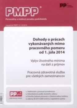 PMPP 12-13/2014 Dohody o prácach vykonávaných mimo pracovného pomeru od 1. júla 2014