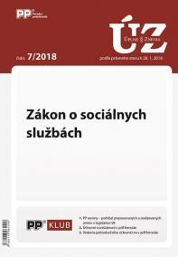 UZZ 7/2018 Zákon o sociálnych službách