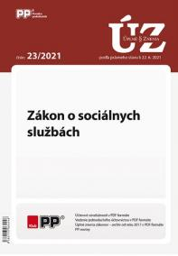 UZZ 23/2021 Zákon o sociálnych službách