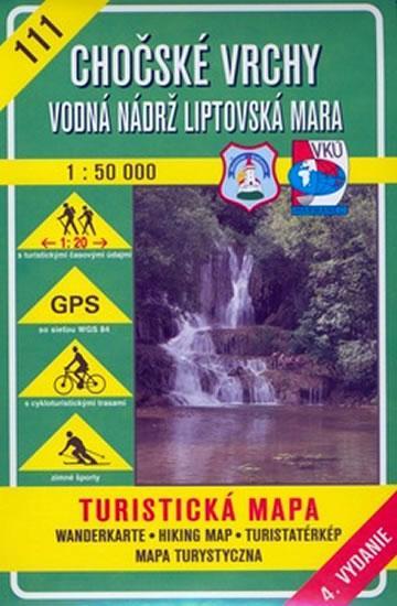 Chočské vrchy (111) - turistická mapa