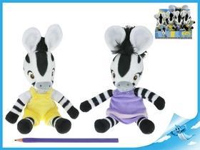 Kniha: Zebra ZOU plyšová postavička 23 cm 12 ks v Boxuautor neuvedený