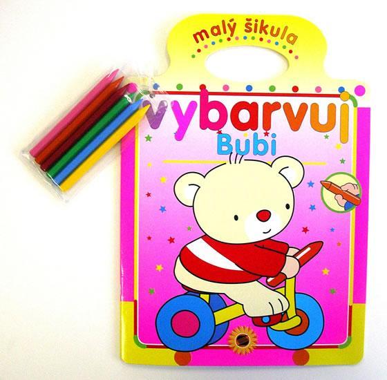 Bubi - malý šikula - vybarvuj + voskové pastelky