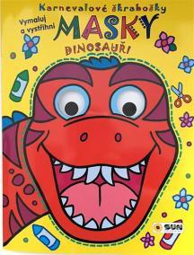 Dinosauři - Karnevalové škrabošky Masky
