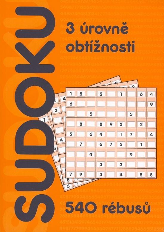 Sudoku 540 rébusů - 3 úrovně obtížnosti