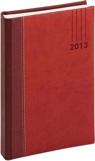 Kniha: Diář 2013 - Splendor - Denní A5, vínovočervená, 15 x 21 cmautor neuvedený