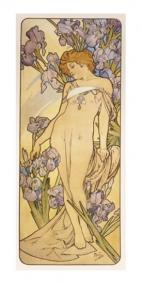 Pohled Alfons Mucha – Iris, dlouhý