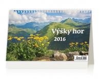 Kalendář stolní 2016 - Výšky hor