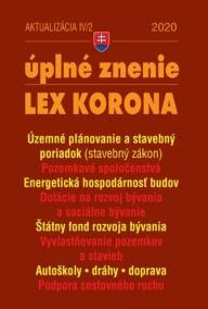 Aktualizácia IV/2 2020 - LEX-KORONA - stavebný zákon a súvisiace predpisy,doprava a cestovný ruch