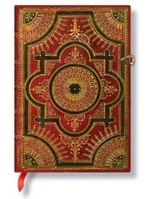 Zápisník - Ventaglio Rosso, midi 120x170 LIned