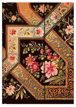 Kniha: Diář Filigree Floral Ebony 2014autor neuvedený