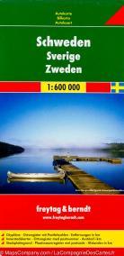 Automapa Švédsko 1:600 000