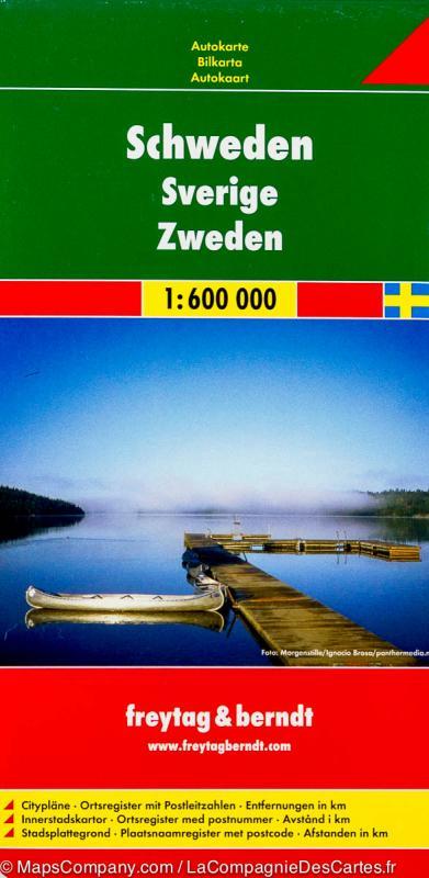 Kniha: Automapa Švédsko 1:600 000autor neuvedený