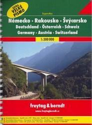 Autoatlas Německo Rakousko Švýcarsko 1:300 000