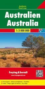Austrália / plán 1:3 000 000 AK 187