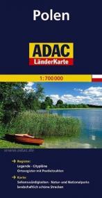 Polsko/mapa 1:700T ADAC