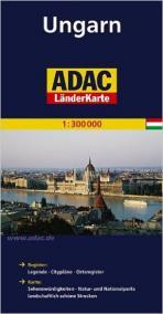 Maďarsko/mapa 1:300T ADAC