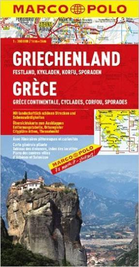 Řecko pevnina, Kyklady, Korfu/mapa 1:300T MD