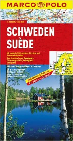 Švédsko/mapa 1:800T MD