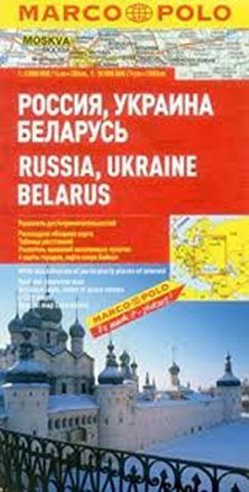 Kniha: Rusko, Ukrajina, Bělorusko/mapa 1:2M MDautor neuvedený