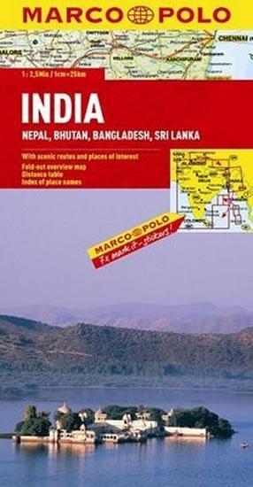 Indie,Nepál/mapa 1