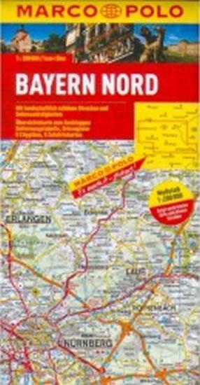 Bavorsko sever mapa