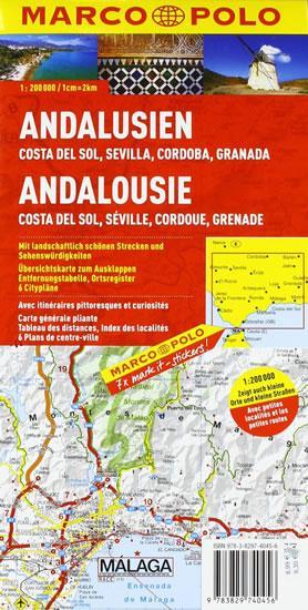 Španělsko/Andalusie - mapa