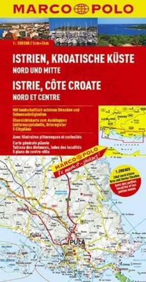 Kniha: Istrie,Chorvat. pobřeží - mapa1:200000autor neuvedený