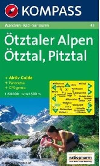 Kompass 43 Otztaler Alpen 1:50T
