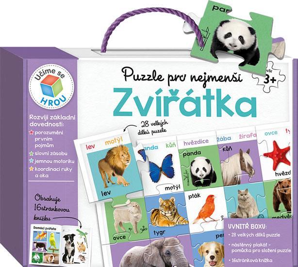 Kniha: Puzzle pro nejmenší: Zvířátkaautor neuvedený