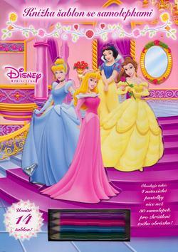 Princezna - Knížka šablon se samolepkami