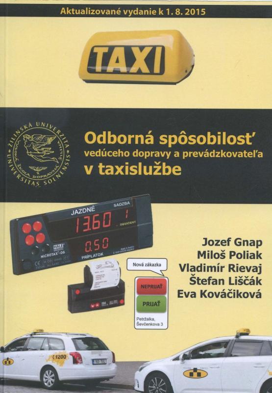 Kniha: Odborná spôsobilosť vedúceho dopravy a prevádzkovateľa v taxislužbekolektív autorov