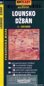 Lounsko, Džbán 1:50T -  turist .mapa