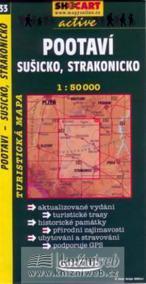 Pootaví, Sušicko, Strakonicko 1:50T -  turist .mapa