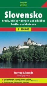 Hrady a zámky Slovenska měkká 1:500 000