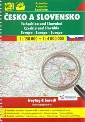 Česko a Slovensko 1:150 000, 1:4 000 000