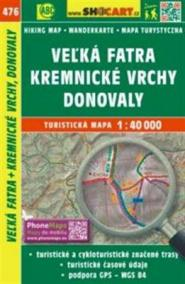 Veľká Fatra, Kremnické vrchy, Donovaly 1:40 000