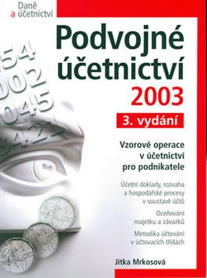 Podvojné účetnictví 2003