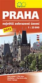 Praha 1:25 000 /2013/ Největší zobrazené území