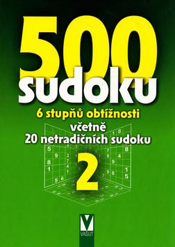 500 sudoku 2 - 6 stupňů obtížnosti