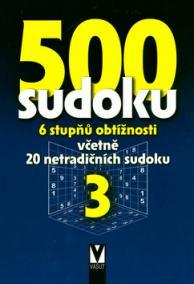 500 sudoku 3 - 6 stupňů obtížnosti
