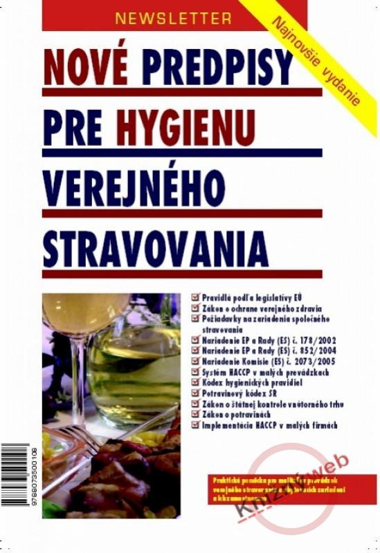 Nové predpisy pre hygienu verejného stravovania