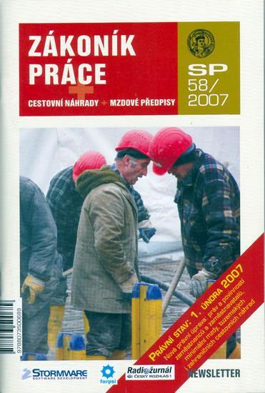 Kniha: Zákoník práce SP58/2007 - cestovní náhrady + mzdové předpisyautor neuvedený
