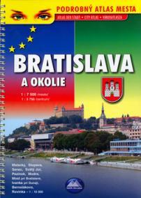 Bratislava a okolie - podrobný atlas mesta - 6. akt. vydanie