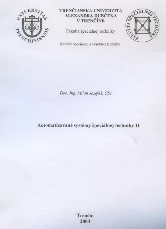 Kniha: Automatizované systémy špeciálnej techniky II - Milan Jozefek